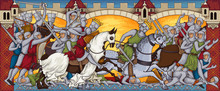 Medieval Battle.Ancient Manusc...