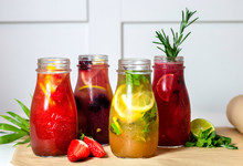 Limonade With Fruits. Colorful...