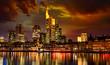 Abendszene Frankfurt am Main
