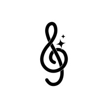 Treble Clef Note Musical Melod...