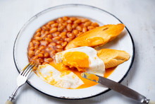 Rustic English Baked Beans Egg...