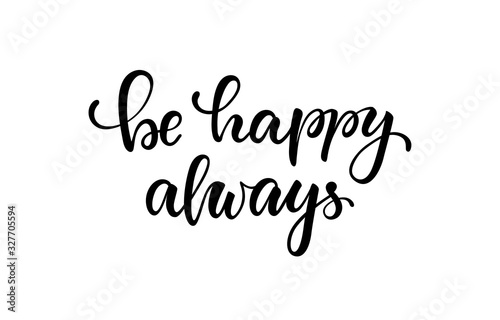 lettering poster be happy always фототапет