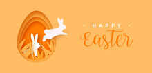 Happy Easter Paper Cut Card Ra...