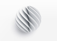 Paper Cut 3d Realistic Layered Sphere. Concept Design Element For Presentations, Web Pages, Posters And Flyers. Vector Illustrartion