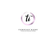 TI Initial Letter Elegant Handwriting Logo Collection