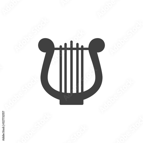 Harp music instrument vector icon Wallpaper Mural