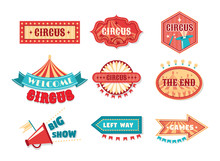 Circus Vintage Labels, Sign Bo...