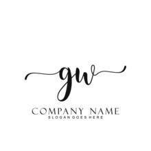 Initial Letter GW Handwriting ...