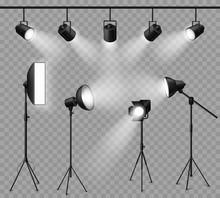 Realistic Spotlight. Illuminat...