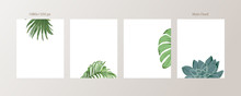 Green And Tropical Cover Desig...
