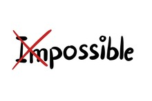 Motivation Concept Word Impossible And Possible