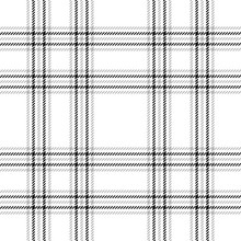 Plaid Pattern Background Vector. Seamless Check Plaid Graphic For Flannel Shirt, Blanket, Throw, Upholstery, Duvet Cover, Or Other Modern Summer, Spring, Autumn, Winter Fabric Design.