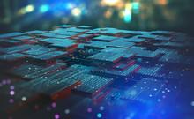Blockchain, High-tech Backgrou...