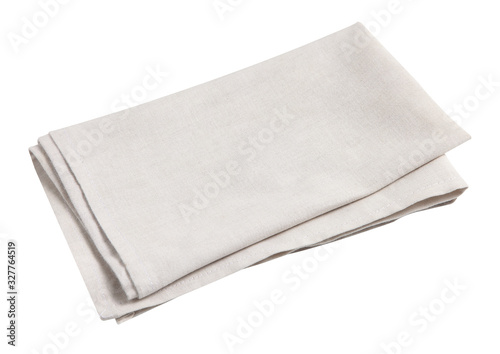 Cotton napkin isolated on white background Fototapete
