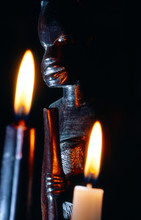 Dark Close-up Of An African St...