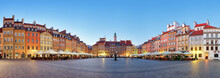 Warsaw, Old Town Square At Sum...