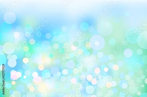 Fotografie, Obraz 水色の輝き幾何学抽象円形グラデーションベクター背景素材