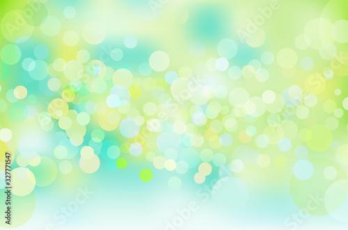 緑色の輝き幾何学抽象円形グラデーションベクター背景素材 Canvas Print