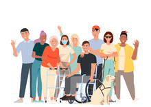 Vector Illustration Of People ...