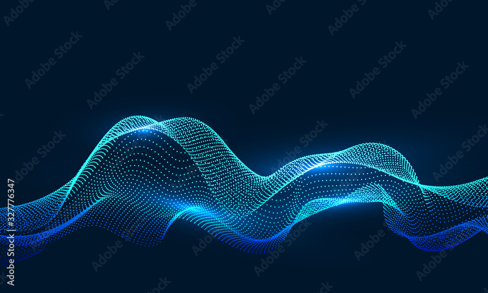 Fototapeta Composed of particles swirling abstract graphics,background of sense of science and technology.