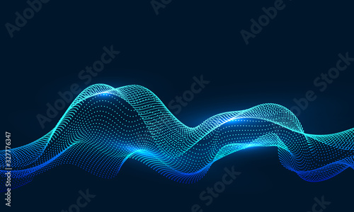 Composed of particles swirling abstract graphics,background of sense of science and technology.