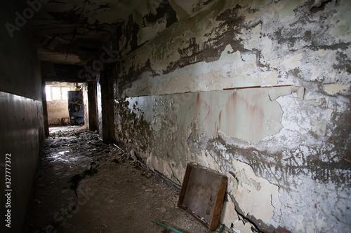 Photo Old abandoned building, urban background
