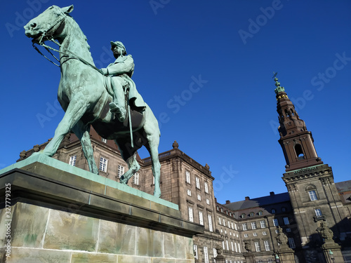 Equestrian statue of Absalon Canvas Print