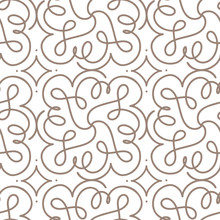 Flourish Seamless Pattern With Gray Swirl Ornament On White Art Deco Style. Background For Invitations And Cards. Wedding, Birthday. Black White