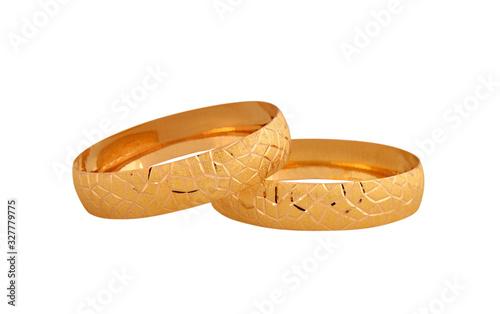 Fotografía Elegant gold bracelets. Yellow gold.