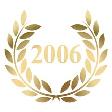 Year 2006 Gold Laurel Wreath Vector Isolated On A White Background