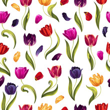 Spring Seamless Pattern With M...