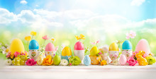 Easter Concept With Colorful D...