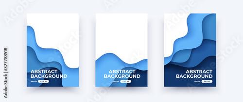 Fényképezés Abstract paper cut waves covers
