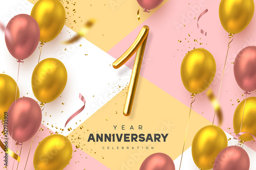 1 year anniversary celebration banner Canvas-taulu