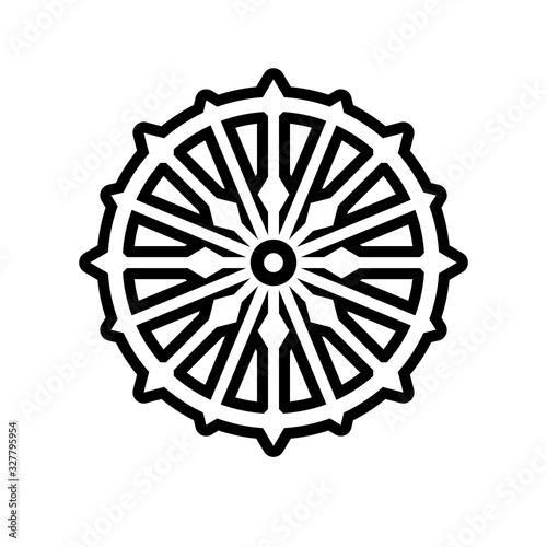 Fényképezés Konark wheel simple outline icon