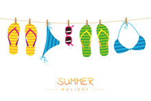 Summer Holiday Striped Flip Fl...