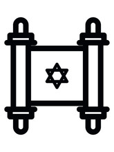 Vector Illustration Of The Jewish Religious Manuscript Icon