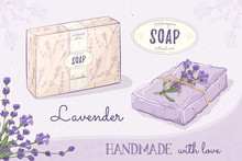 Handmade Natural Soap Lavender...