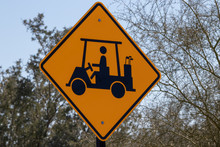 Golf Crossing Traffic Sign