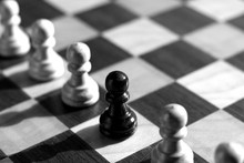 Schach Bauern Schwarz Weiß