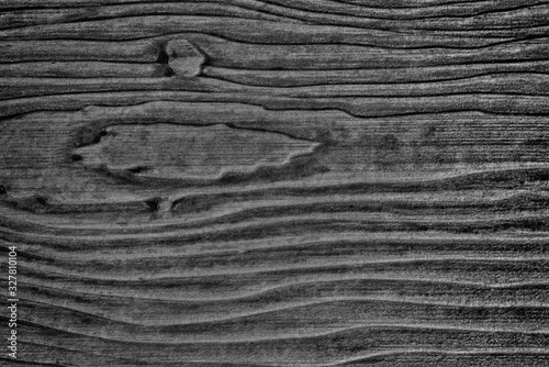 Textured line pattern black wood. Canvas Print