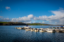 Leisure Rowing Boats Tied And ...