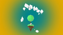 Low Polygon 3D Island Arising ...