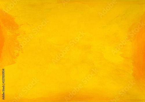 Slika na platnu Intensive yellow handmade background texture