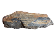Slate Rock Isolate On White Ba...