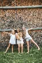 Three Little Girls Playing Wit...