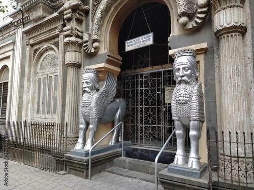 Mumbai, Maharastra/India- February 26 2020: A Satanic temple of historical times Canvas Print