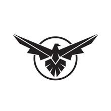 Eagle Logo Linear Style Falcon...