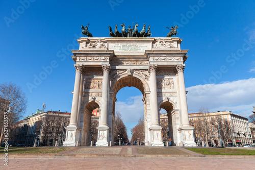 Triumphal arch Porta Sempione