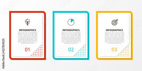 Fototapeta Infographic design template. Creative concept with 3 steps obraz